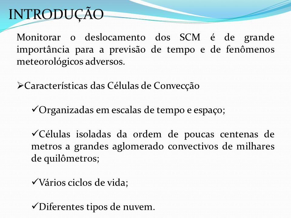 INTRODUÇÃO Monitorar o deslocamento dos SCM é de grande importância para a previsão de tempo e de fenômenos meteorológicos adversos.