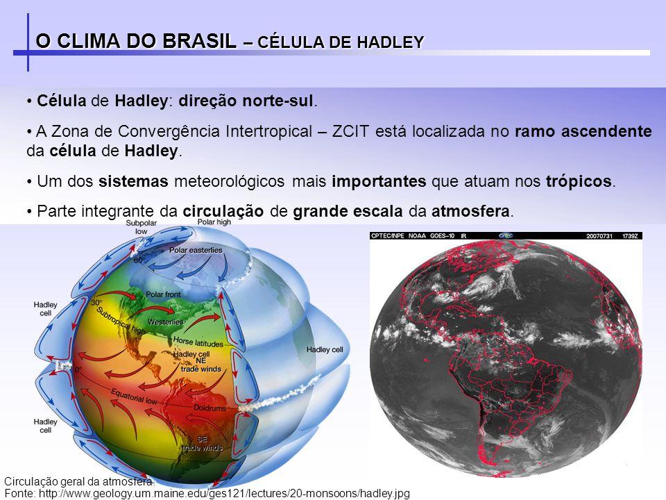 O CLIMA DO BRASIL – CÉLULA DE HADLEY