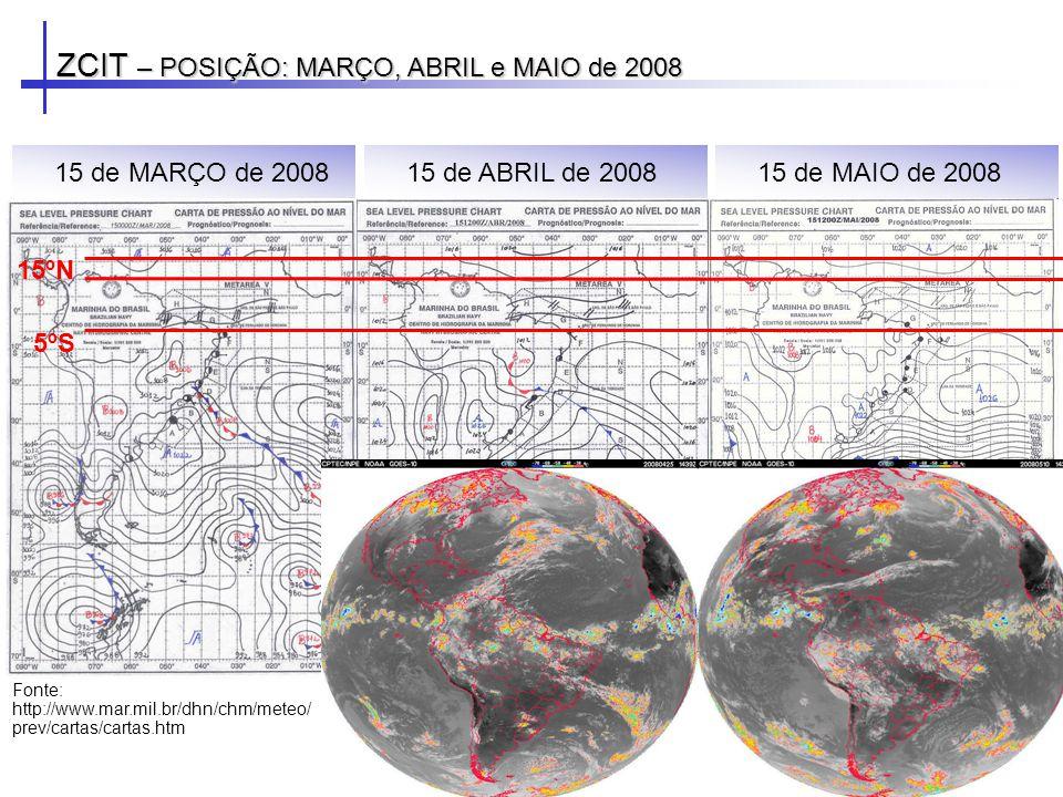 ZCIT – POSIÇÃO: MARÇO, ABRIL e MAIO de 2008