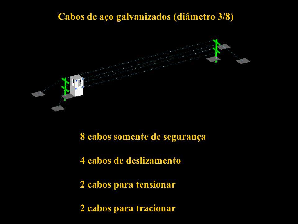 Cabos de aço galvanizados (diâmetro 3/8)