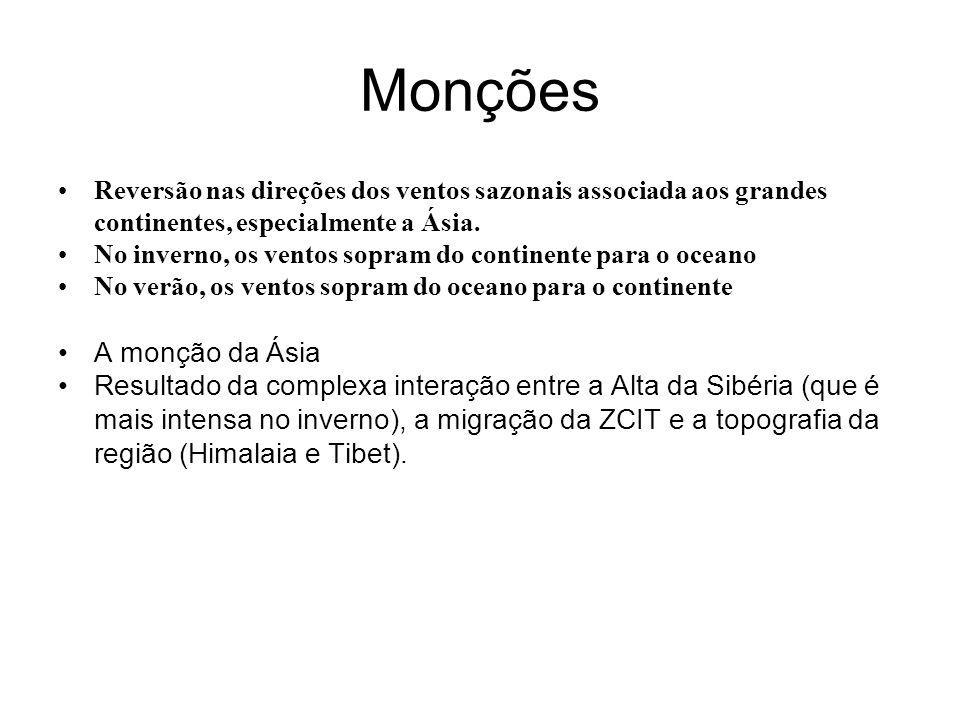 Monções A monção da Ásia