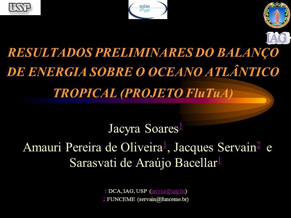 RESULTADOS PRELIMINARES DO BALANÇO DE ENERGIA SOBRE O OCEANO ATLÂNTICO TROPICAL (PROJETO FluTuA)