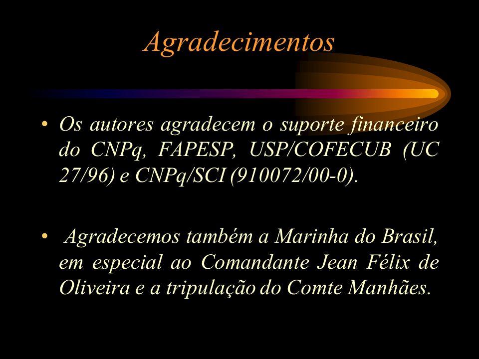Agradecimentos Os autores agradecem o suporte financeiro do CNPq, FAPESP, USP/COFECUB (UC 27/96) e CNPq/SCI (910072/00-0).