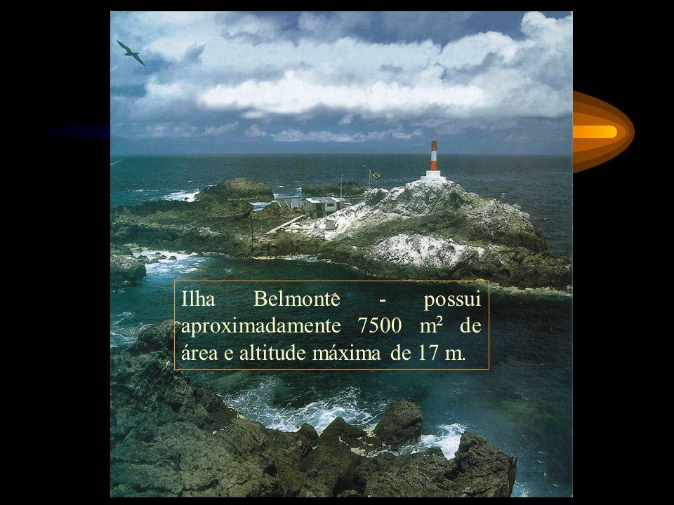 Ilha Belmonte - possui aproximadamente 7500 m2 de área e altitude máxima de 17 m.