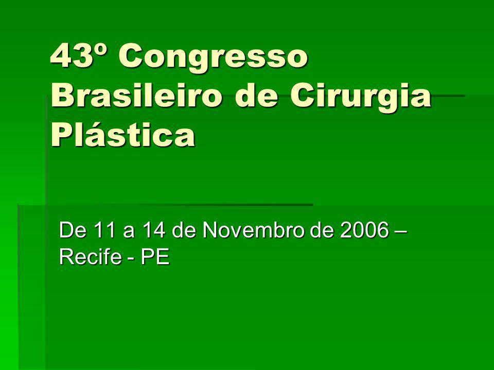 43º Congresso Brasileiro de Cirurgia Plástica