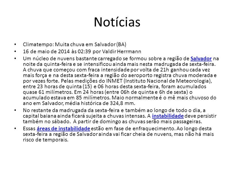 Notícias Climatempo: Muita chuva em Salvador (BA)