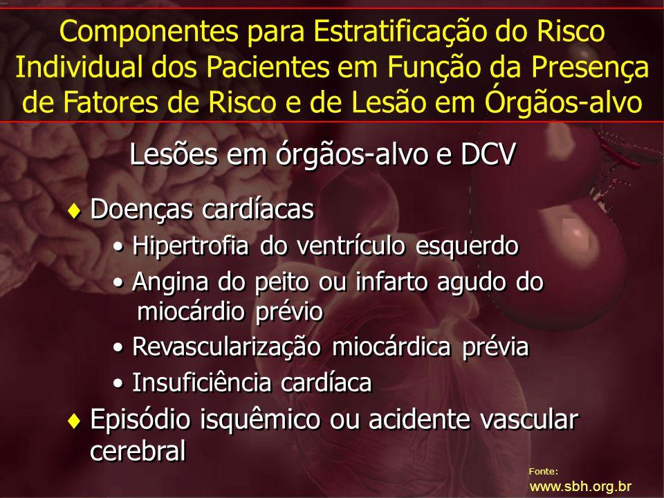 Lesões em órgãos-alvo e DCV