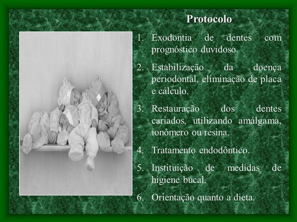 Protocolo Exodontia de dentes com prognóstico duvidoso.
