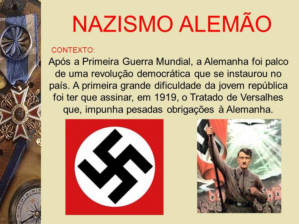 NAZISMO ALEMÃO CONTEXTO: