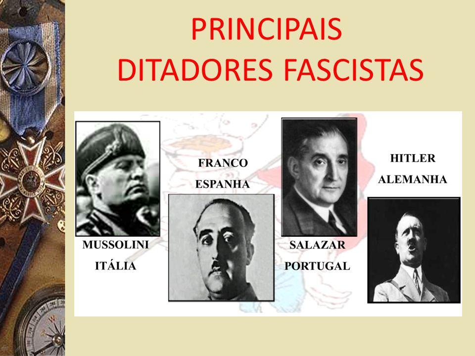 PRINCIPAIS DITADORES FASCISTAS