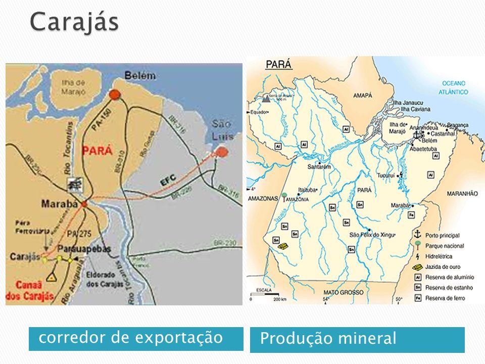 Carajás corredor de exportação Produção mineral