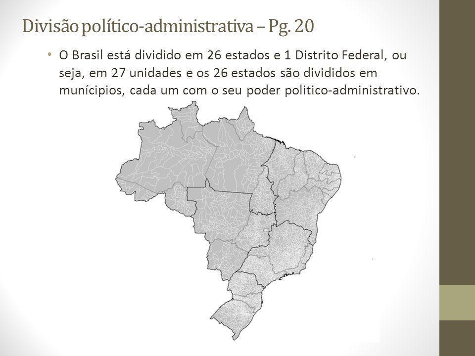 Divisão político-administrativa – Pg. 20