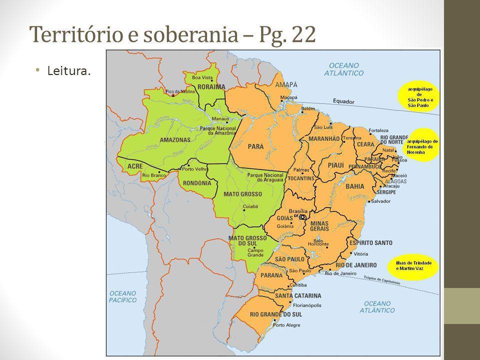 Território e soberania – Pg. 22