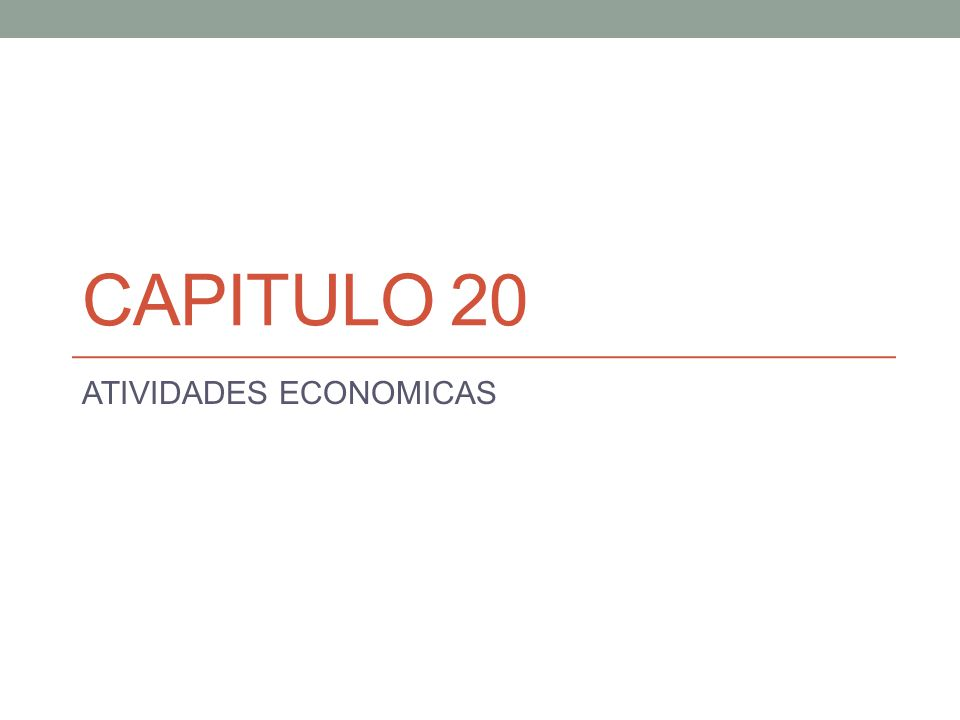 ATIVIDADES ECONOMICAS