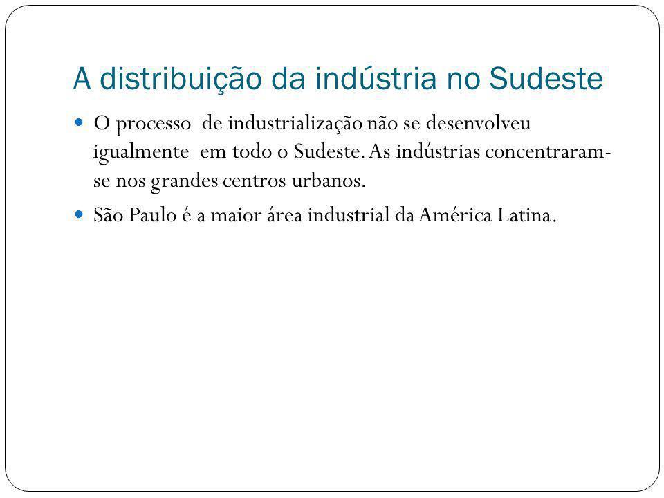 A distribuição da indústria no Sudeste