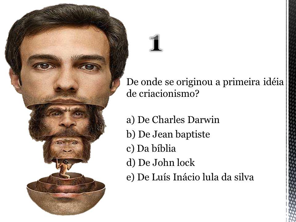 1 De onde se originou a primeira idéia de criacionismo