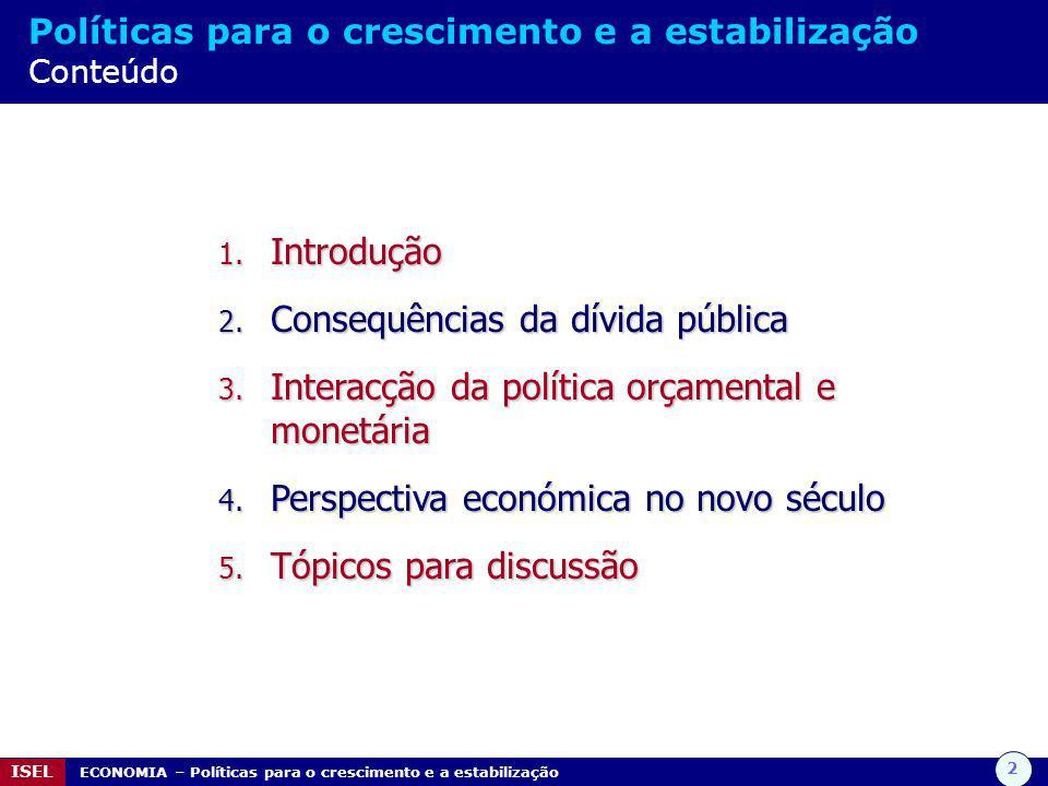 Consequências da dívida pública