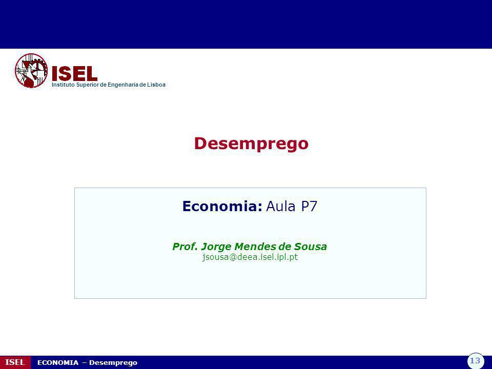 Prof. Jorge Mendes de Sousa