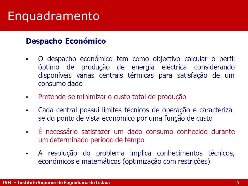Enquadramento Despacho Económico