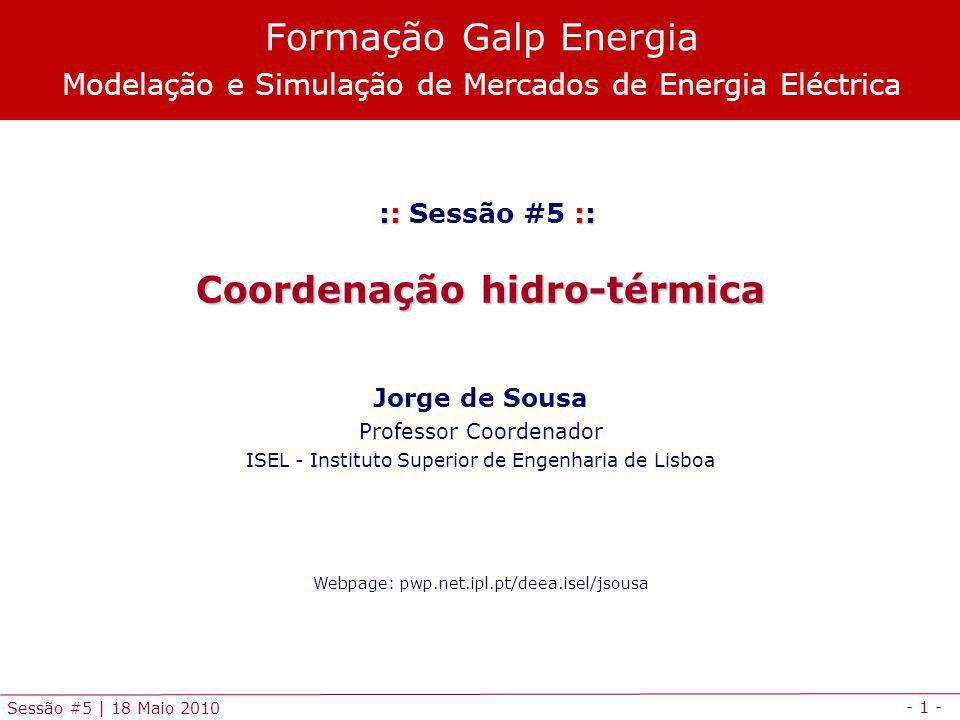 Coordenação hidro-térmica