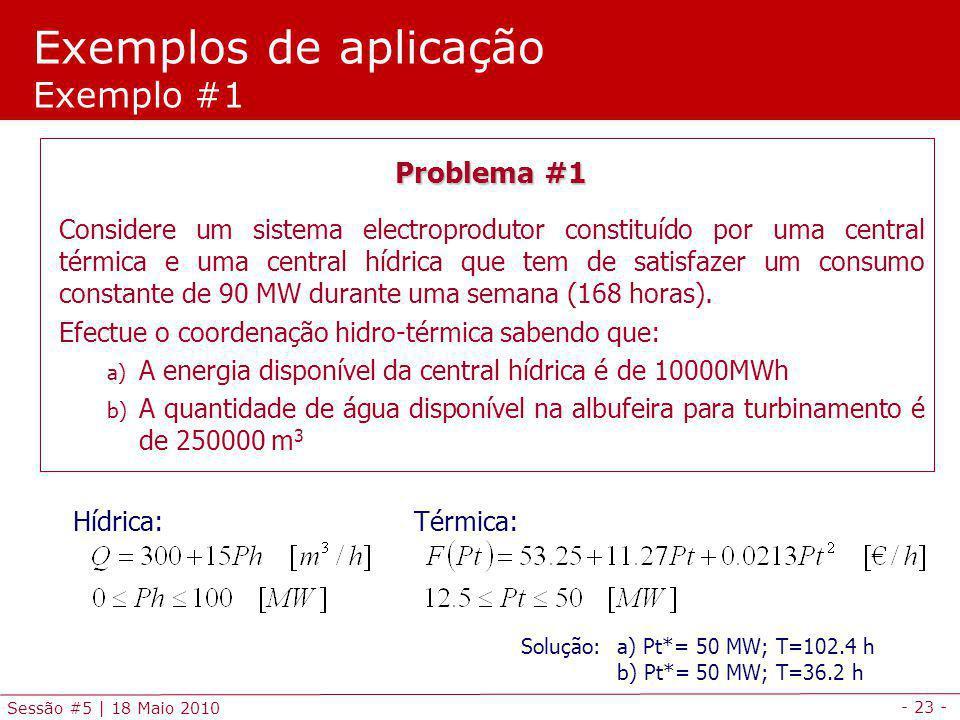 Exemplos de aplicação Exemplo #1