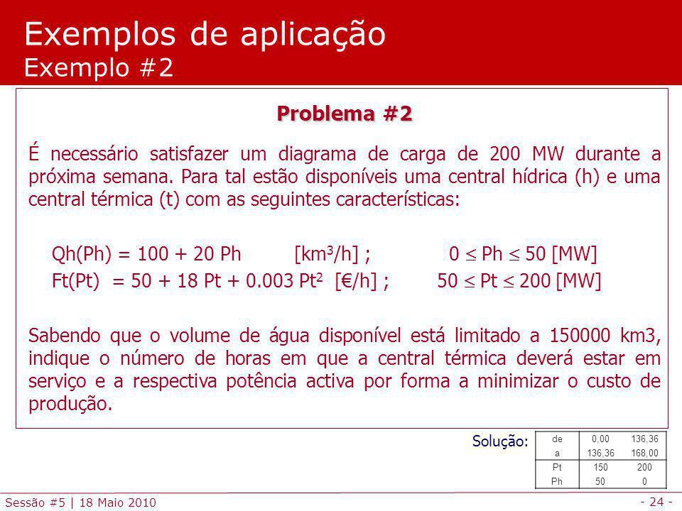 Exemplos de aplicação Exemplo #2