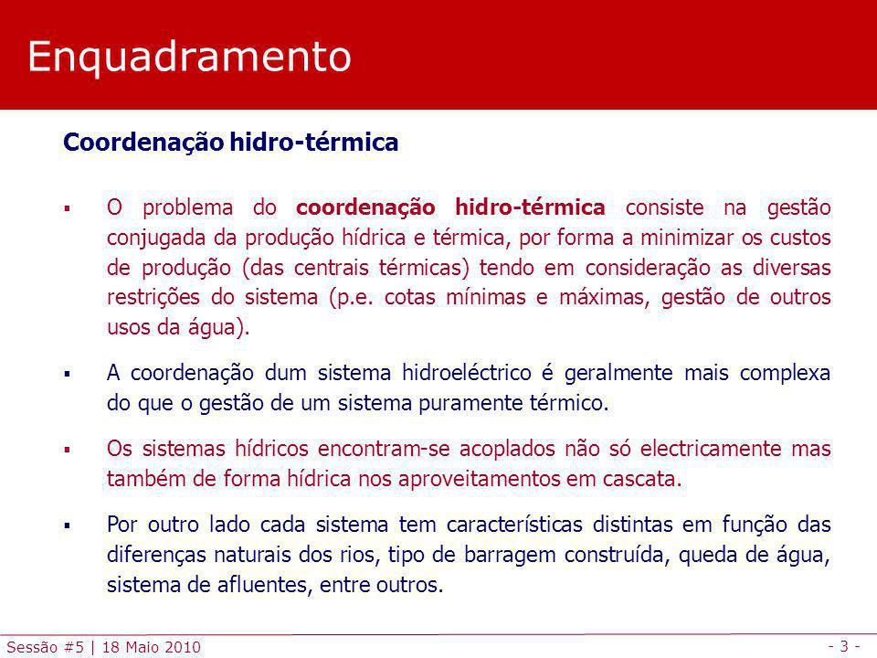 Enquadramento Coordenação hidro-térmica