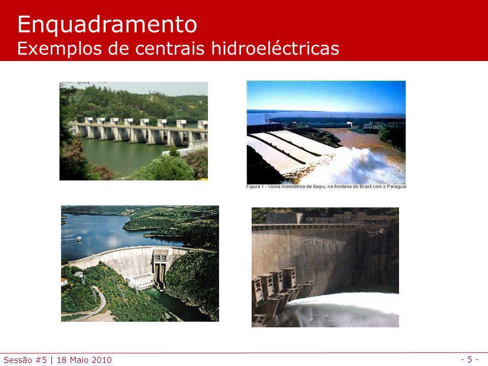 Enquadramento Exemplos de centrais hidroeléctricas