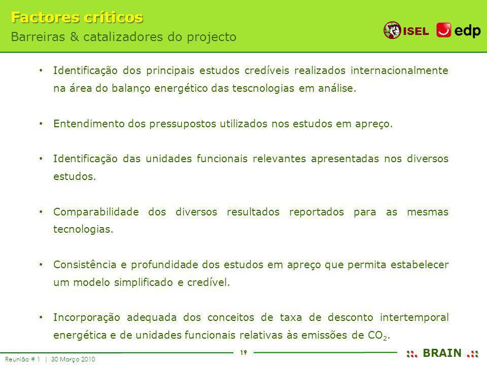 Factores críticos Barreiras & catalizadores do projecto