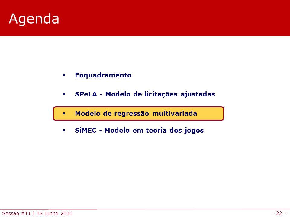 Agenda Enquadramento SPeLA - Modelo de licitações ajustadas