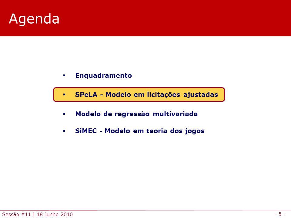 Agenda Enquadramento SPeLA - Modelo em licitações ajustadas