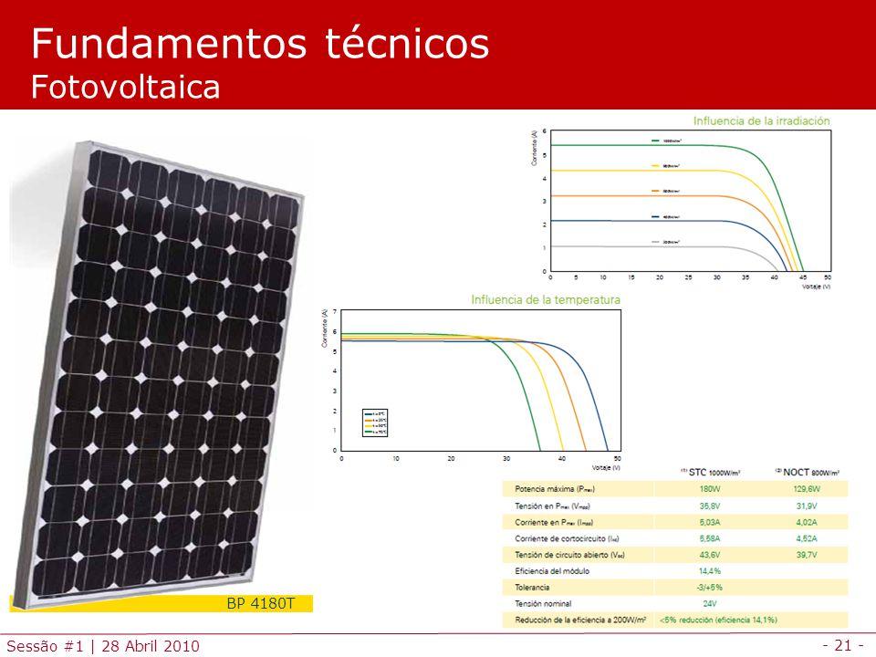 Fundamentos técnicos Fotovoltaica