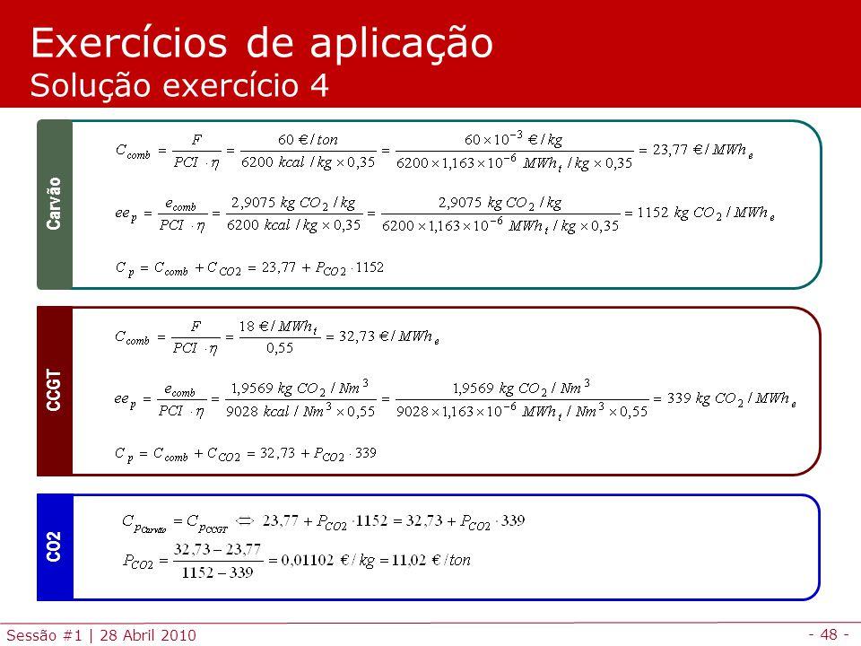 Exercícios de aplicação Solução exercício 4