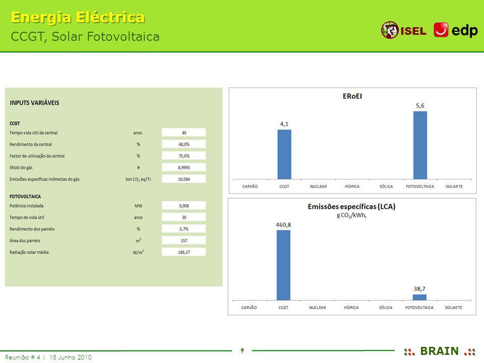 Energia Eléctrica CCGT, Solar Fotovoltaica