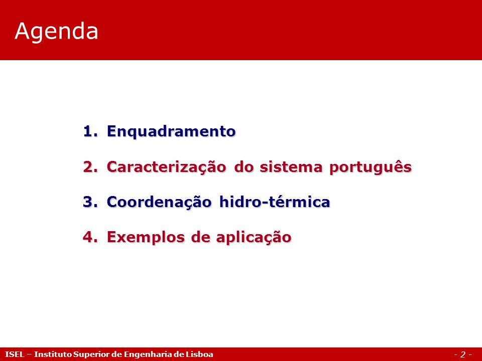 Agenda Enquadramento Caracterização do sistema português
