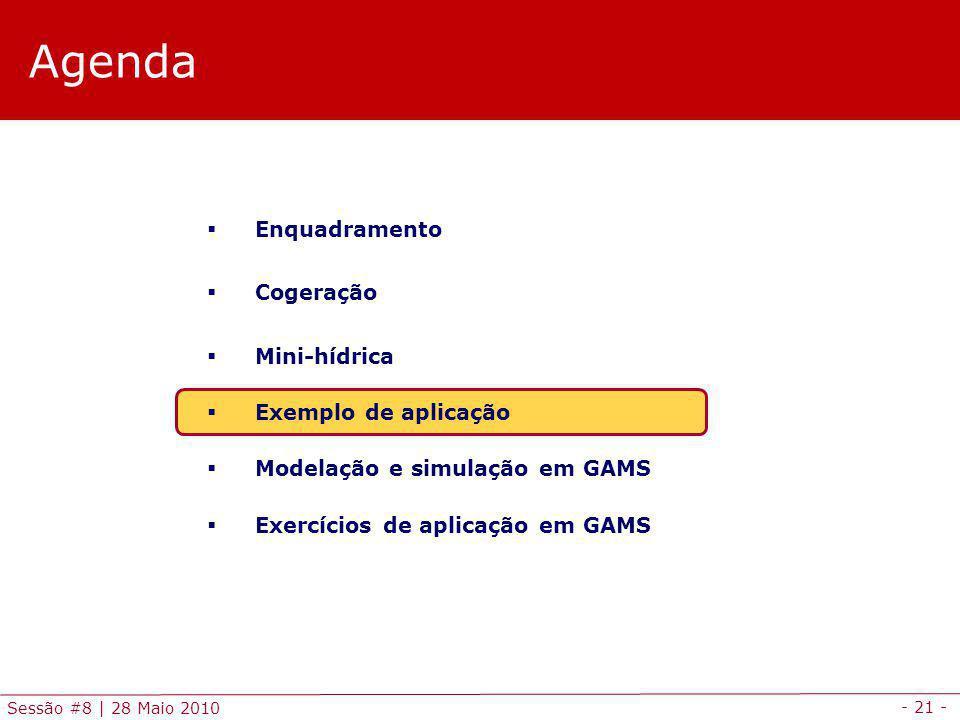 Agenda Enquadramento Cogeração Mini-hídrica Exemplo de aplicação