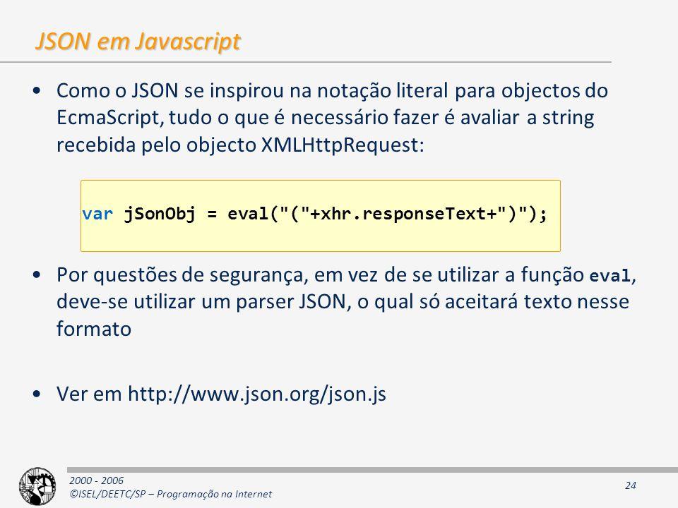 JSON em Javascript