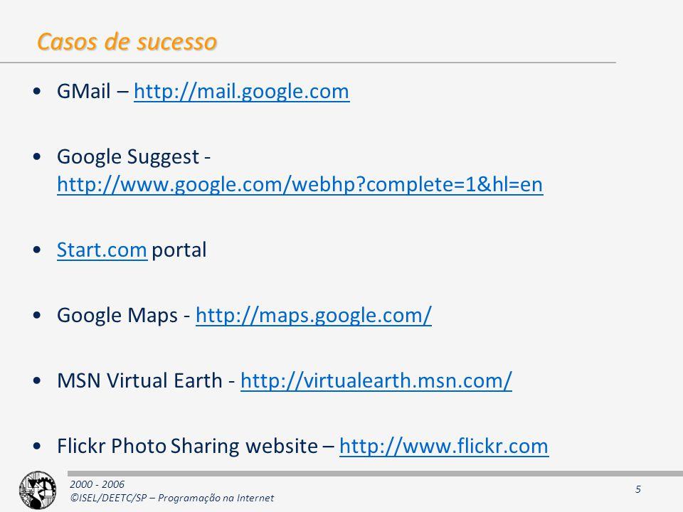 Casos de sucesso GMail – http://mail.google.com