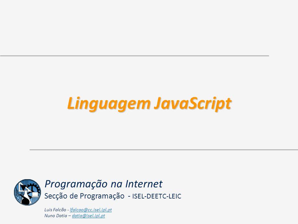 Linguagem JavaScript Programação na Internet