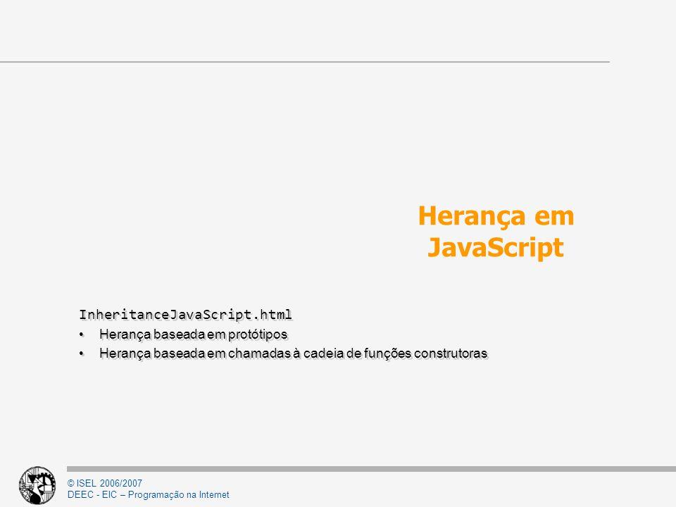 Herança em JavaScript InheritanceJavaScript.html