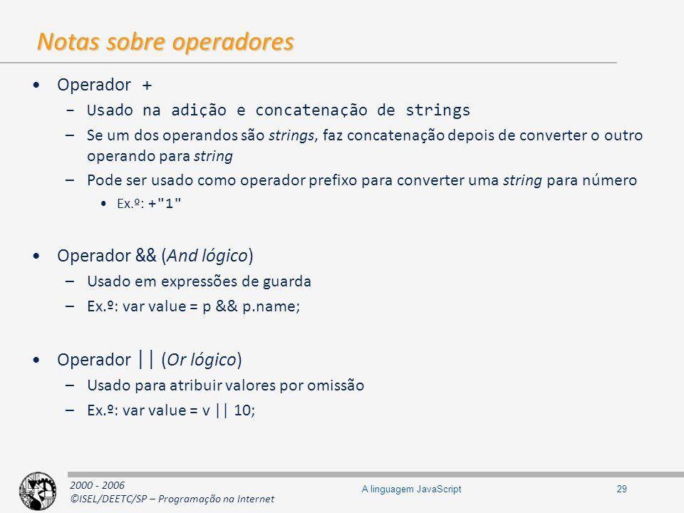 Notas sobre operadores
