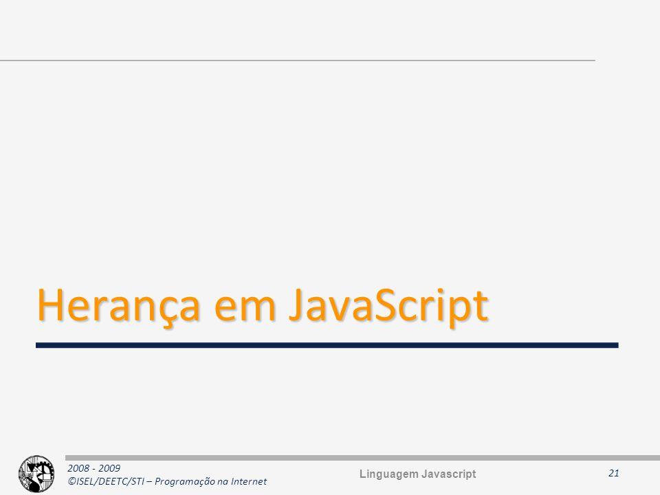 Herança em JavaScript Linguagem Javascript