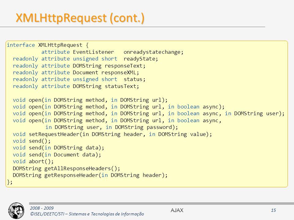 XMLHttpRequest (cont.)
