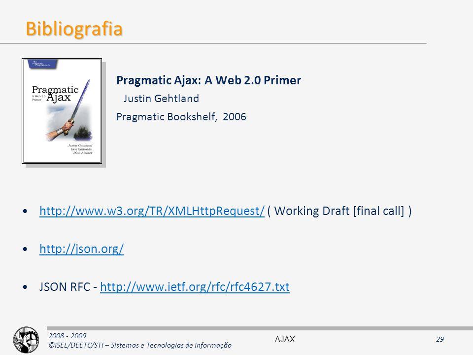 Bibliografia Pragmatic Ajax: A Web 2.0 Primer