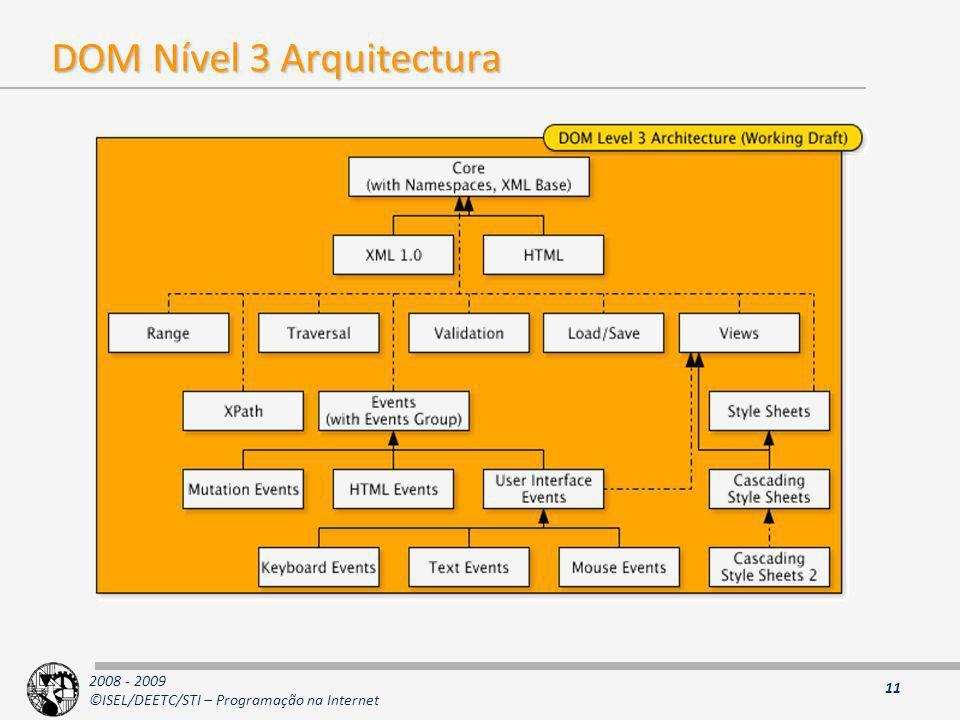 DOM Nível 3 Arquitectura