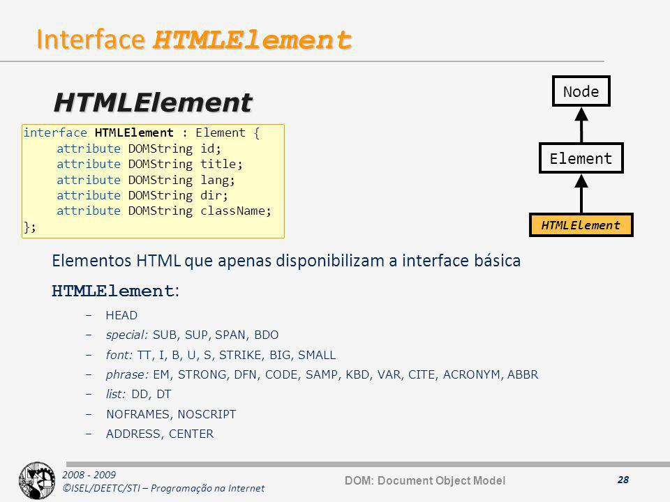 Interface HTMLElement