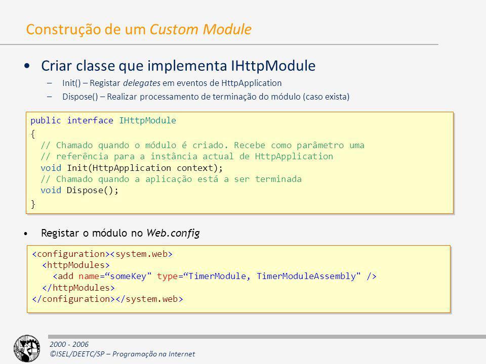 Construção de um Custom Module