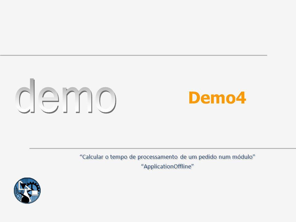 Demo4 Calcular o tempo de processamento de um pedido num módulo