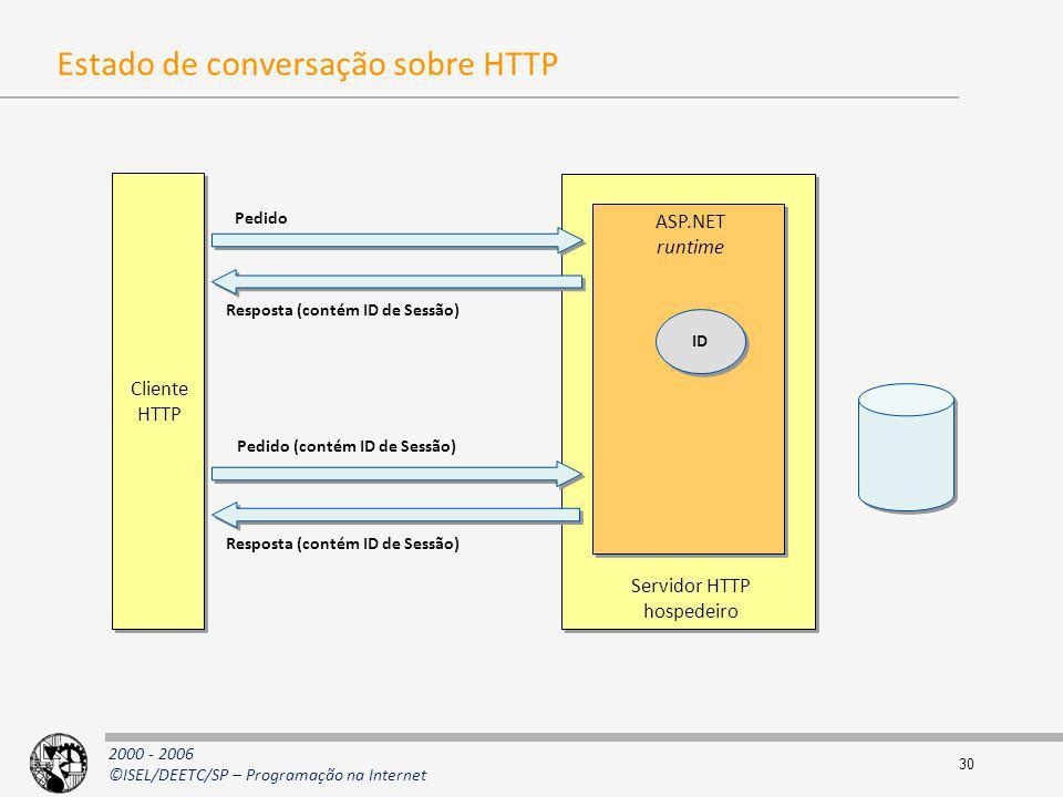 Estado de conversação sobre HTTP