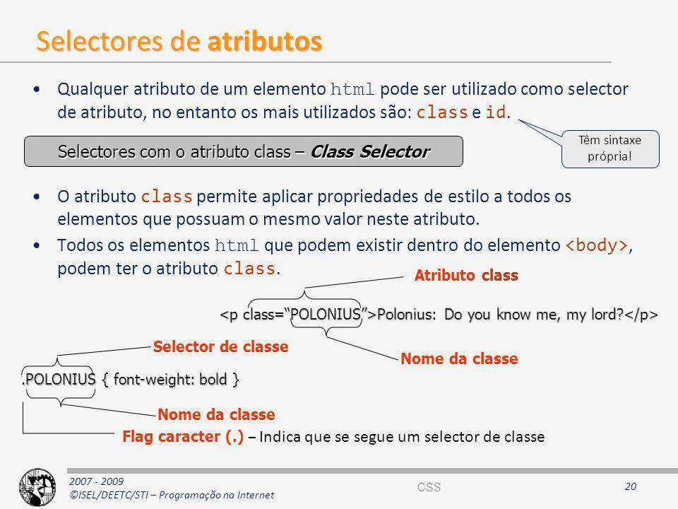 Selectores de atributos